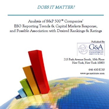 Sustainability - What Matters?